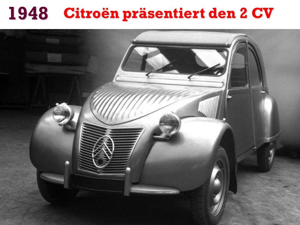 1948 Citroën präsentiert den 2 CV