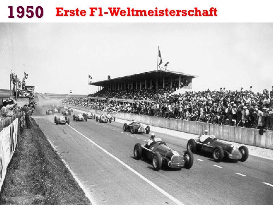 1950 Erste F1-Weltmeisterschaft