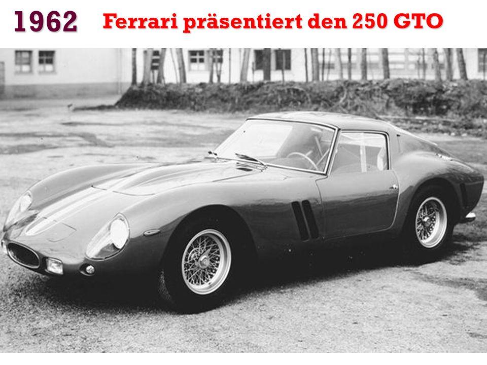 1962 Ferrari präsentiert den 250 GTO