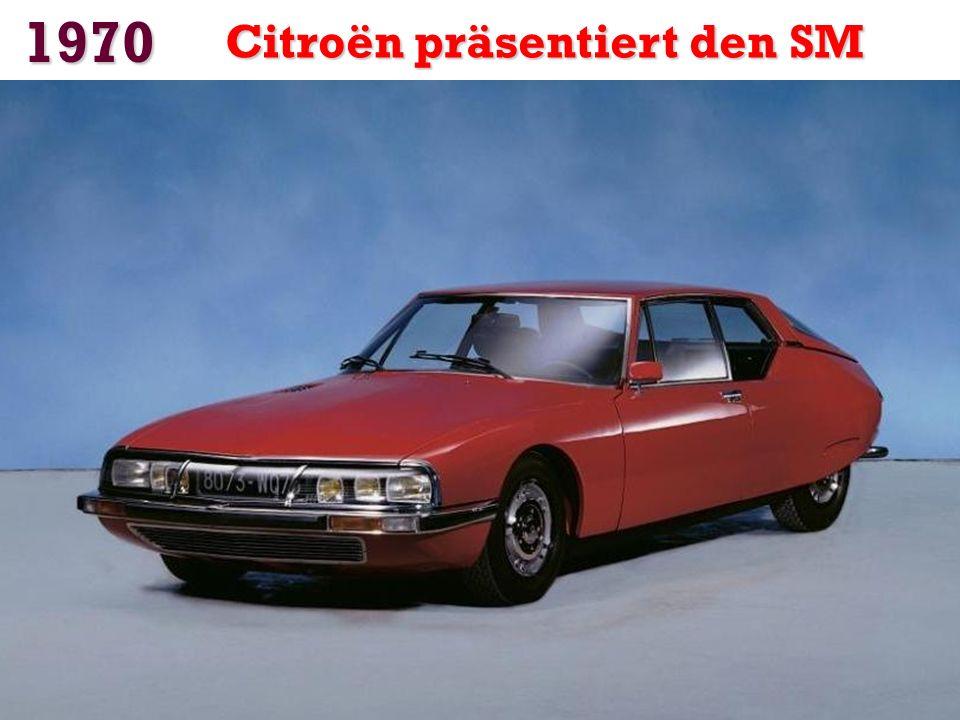 1970 Citroën präsentiert den SM