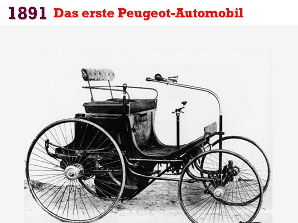 1891 Das erste Peugeot-Automobil