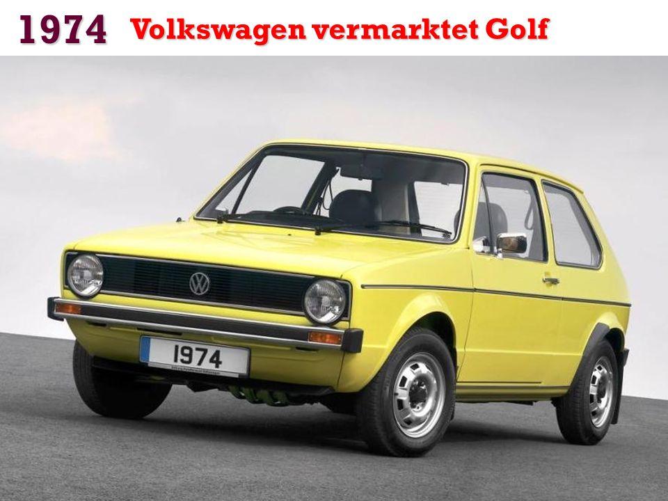 1974 Volkswagen vermarktet Golf