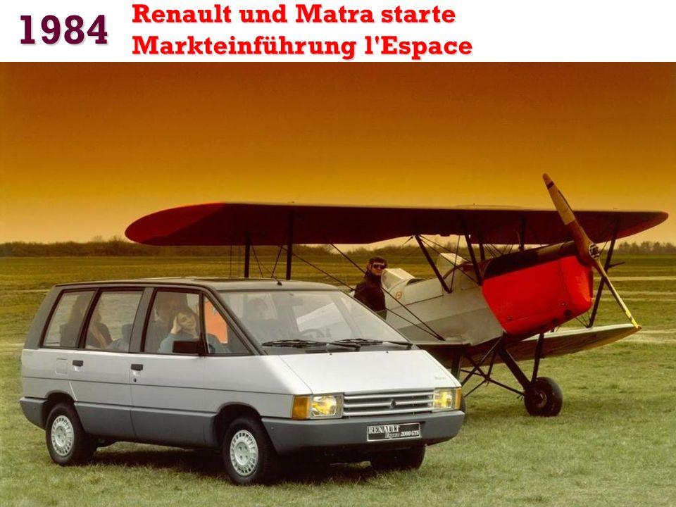 1984 Renault und Matra starte Markteinführung l Espace