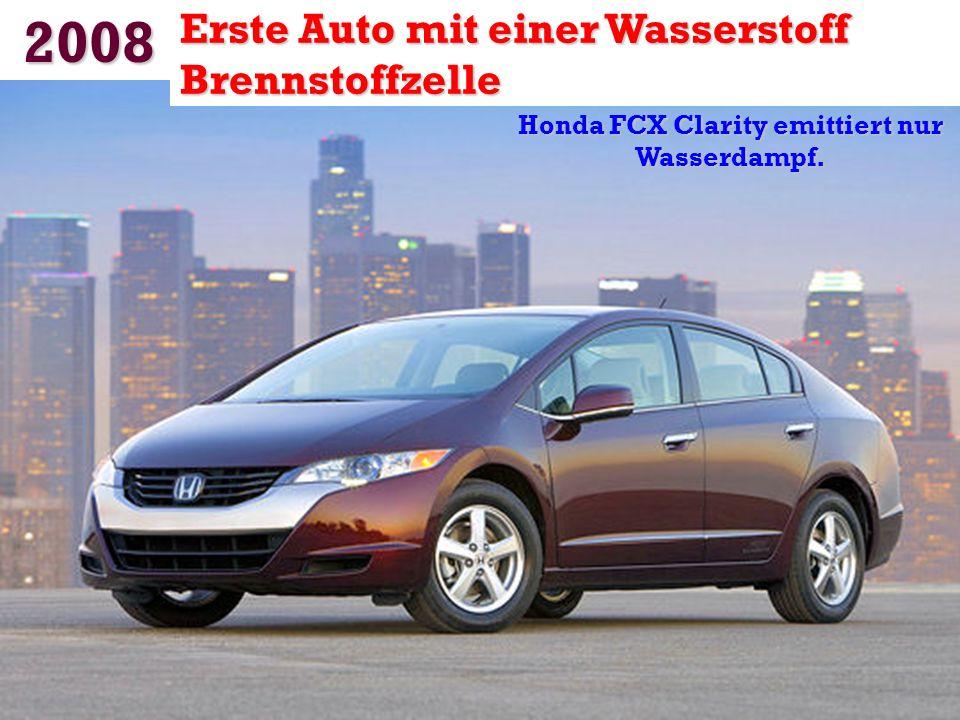 Honda FCX Clarity emittiert nur Wasserdampf.