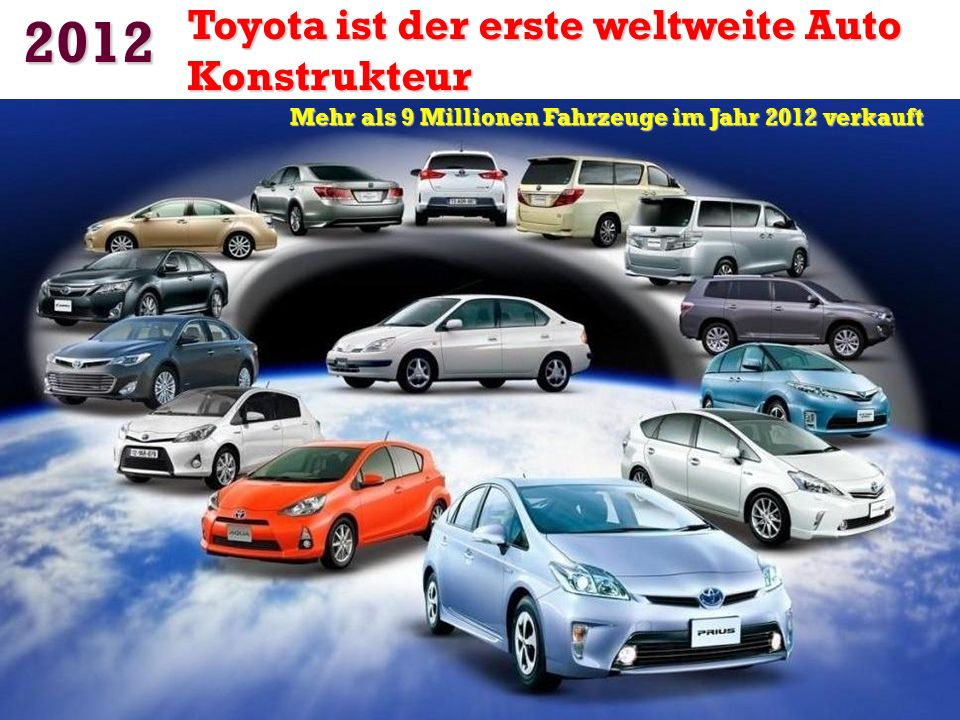 Mehr als 9 Millionen Fahrzeuge im Jahr 2012 verkauft