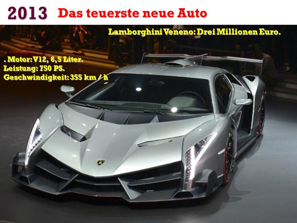 Lamborghini Veneno: Drei Millionen Euro.