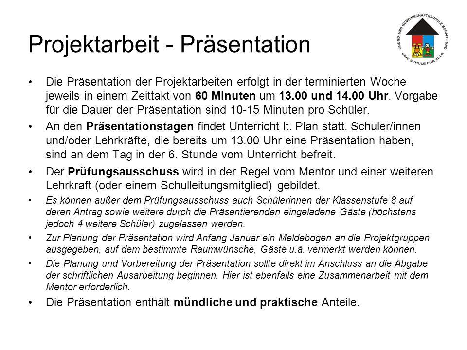 Projektarbeit - Präsentation