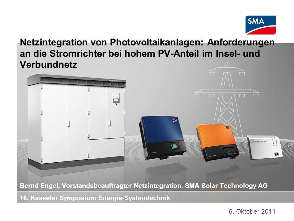 Netzintegration von Photovoltaikanlagen: Anforderungen an die Stromrichter bei hohem PV-Anteil im Insel- und Verbundnetz