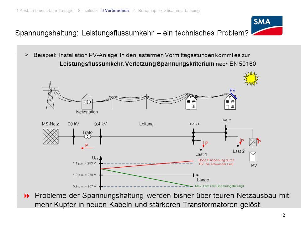 Spannungshaltung: Leistungsflussumkehr – ein technisches Problem