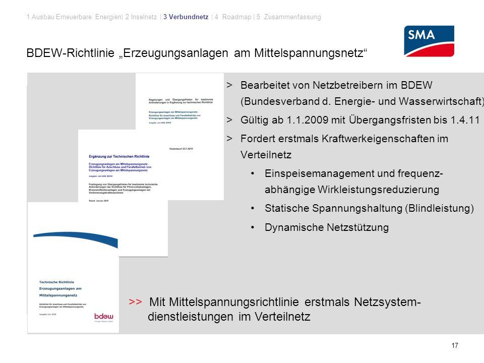 """BDEW-Richtlinie """"Erzeugungsanlagen am Mittelspannungsnetz"""