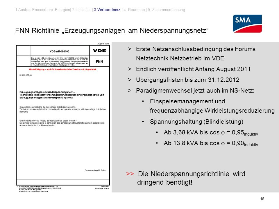 """FNN-Richtlinie """"Erzeugungsanlagen am Niederspannungsnetz"""