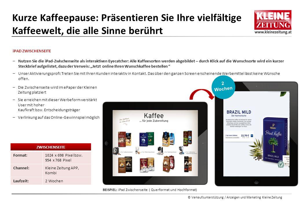BEISPIEL: iPad Zwischenseite ( Querformat und Hochformat)