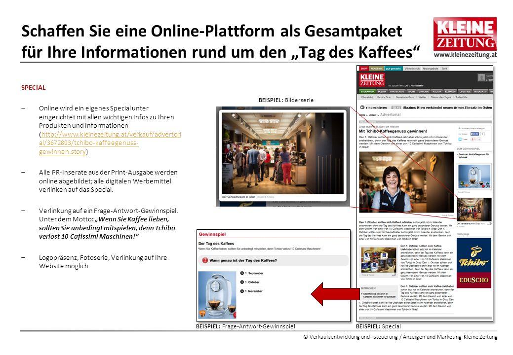 """Schaffen Sie eine Online-Plattform als Gesamtpaket für Ihre Informationen rund um den """"Tag des Kaffees"""