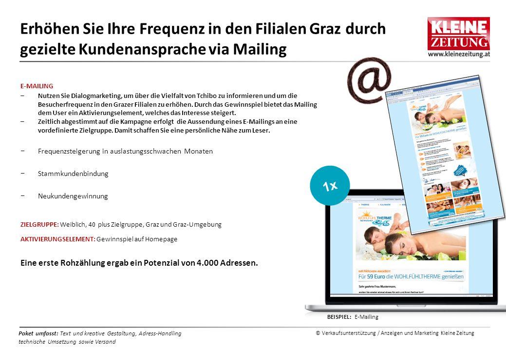 Erhöhen Sie Ihre Frequenz in den Filialen Graz durch gezielte Kundenansprache via Mailing