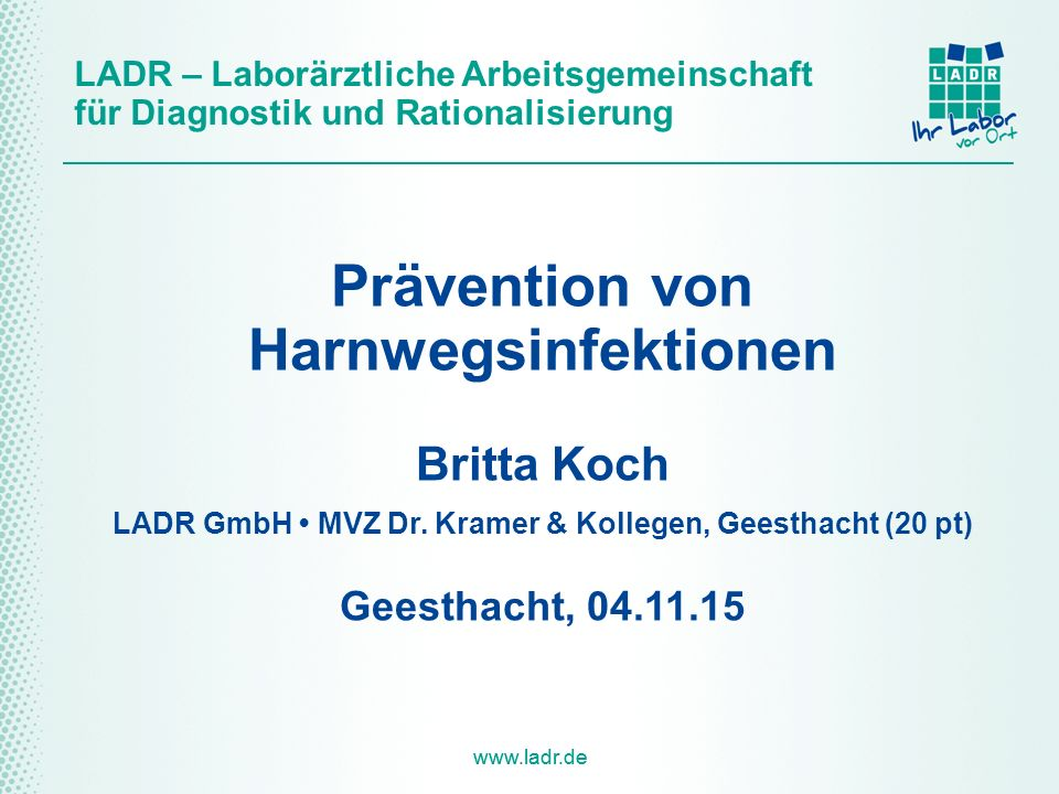 Prävention von Harnwegsinfektionen