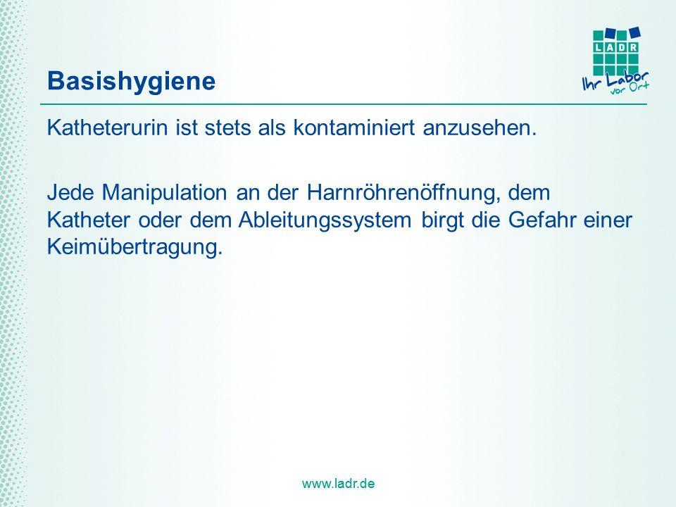 Basishygiene Katheterurin ist stets als kontaminiert anzusehen.