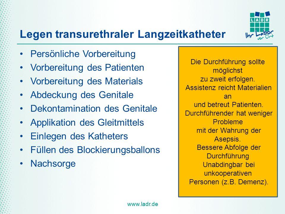Legen transurethraler Langzeitkatheter