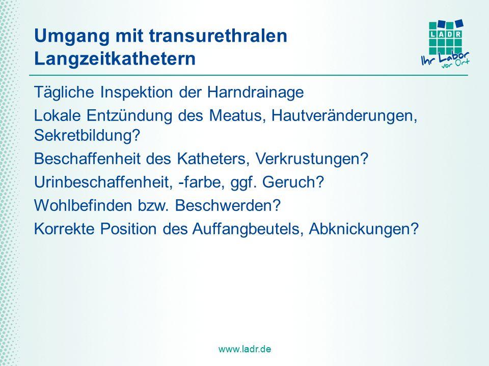 Umgang mit transurethralen Langzeitkathetern