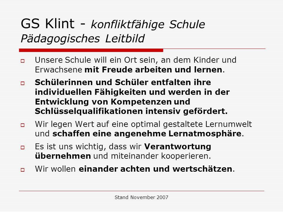 GS Klint - konfliktfähige Schule Pädagogisches Leitbild