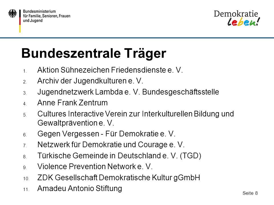 Bundeszentrale Träger