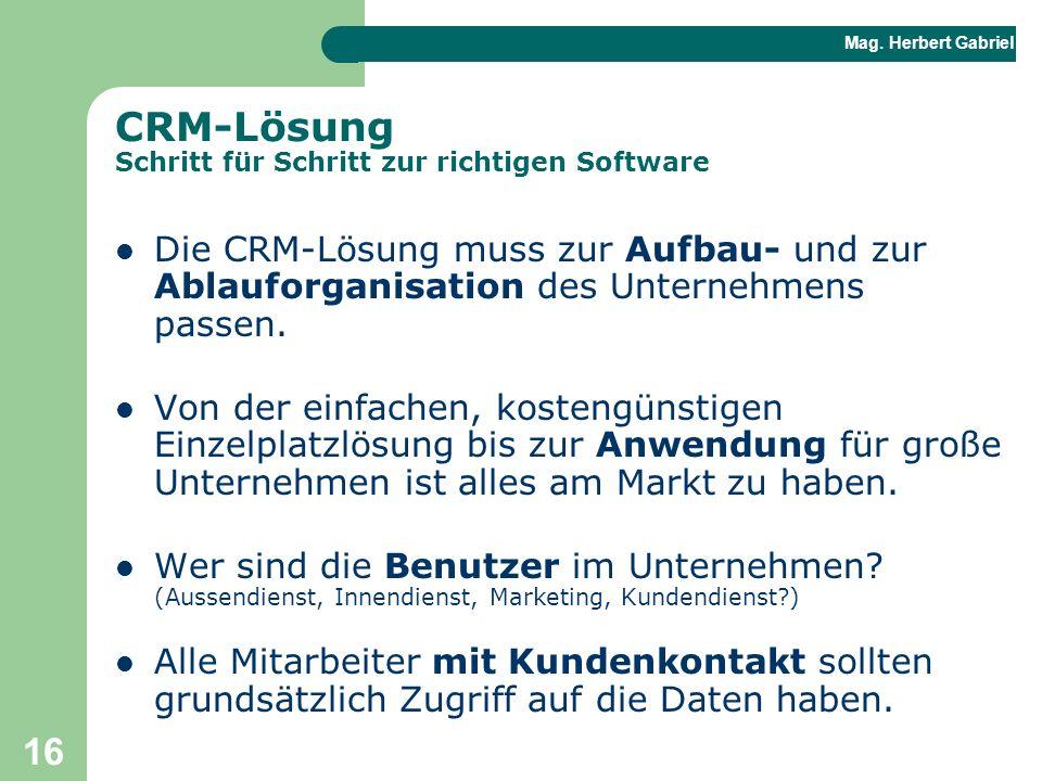 CRM-Lösung Schritt für Schritt zur richtigen Software