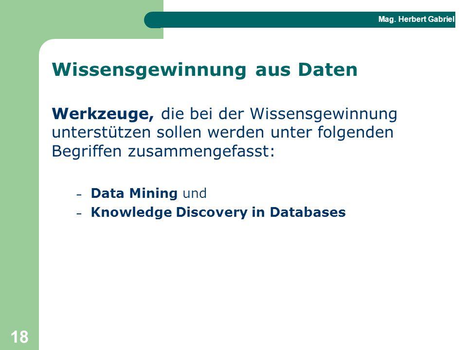 Wissensgewinnung aus Daten