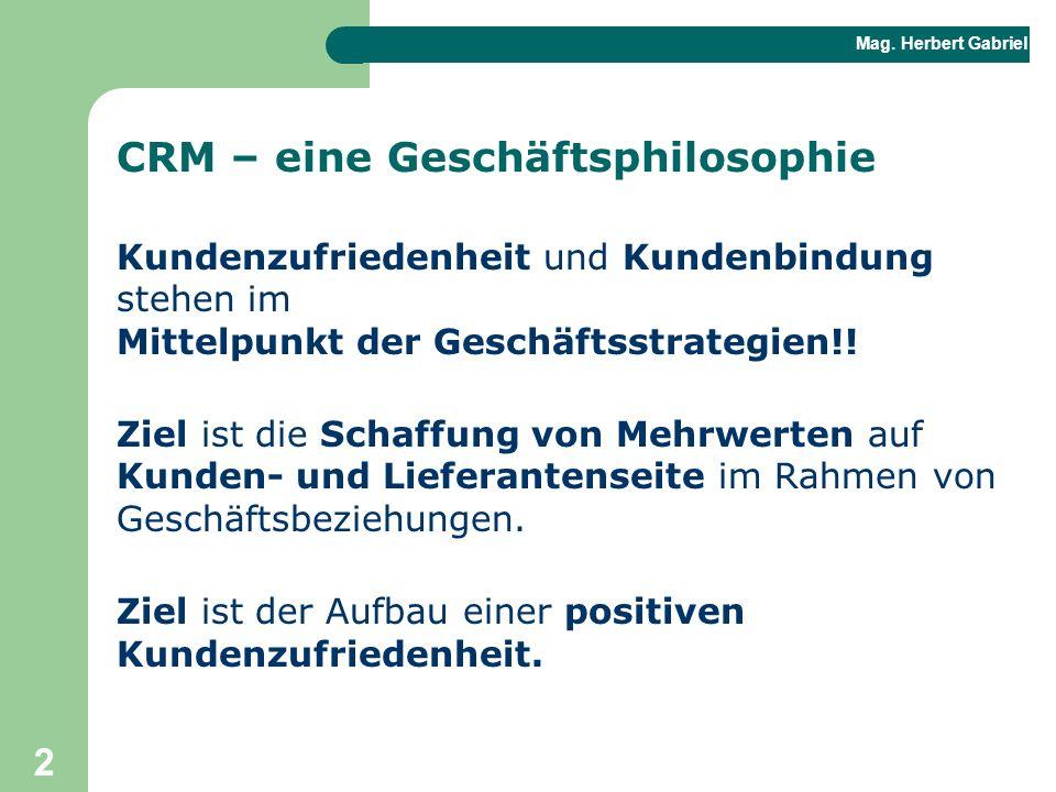 CRM – eine Geschäftsphilosophie