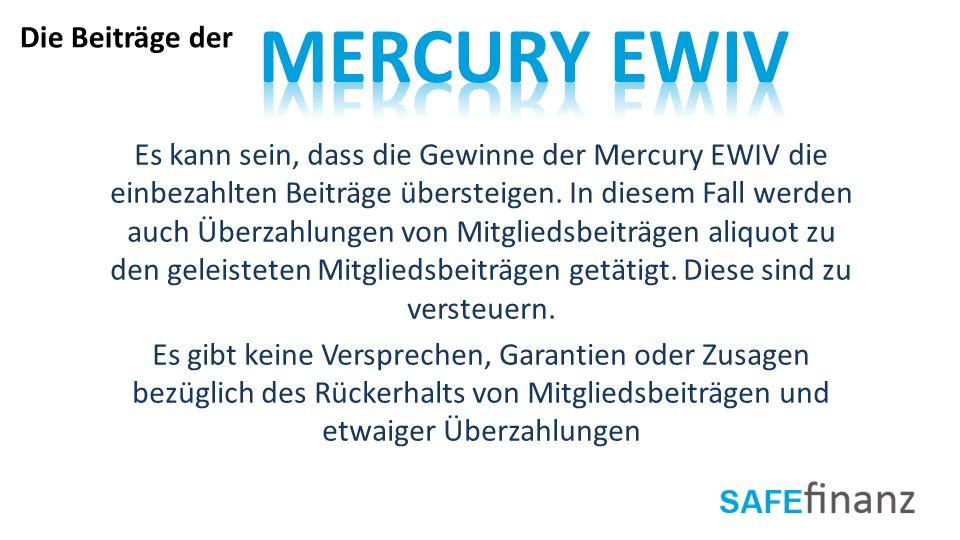 Mercury EWIV Die Beiträge der