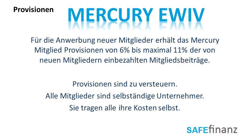 Mercury EWIV Provisionen