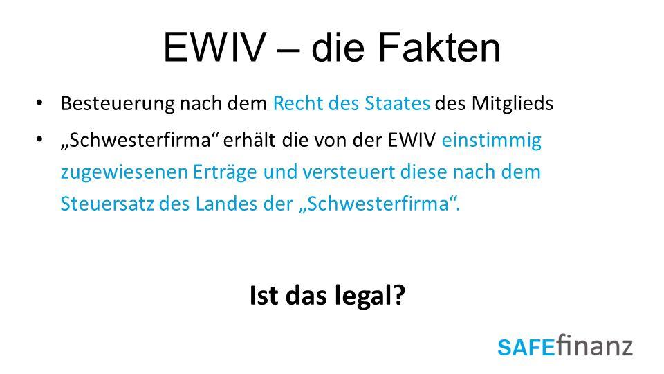 EWIV – die Fakten Ist das legal