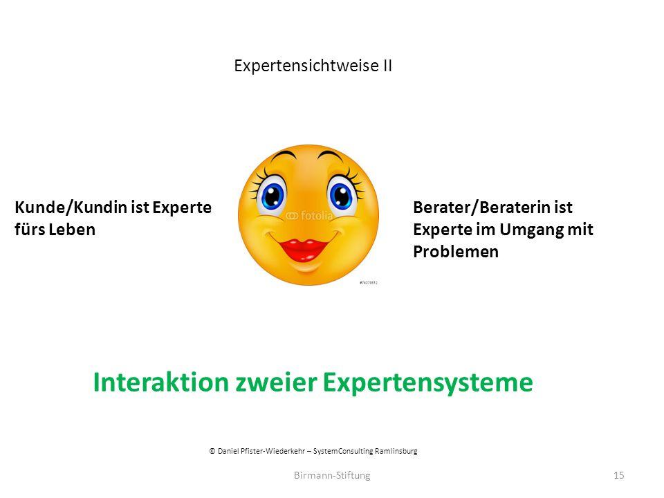Interaktion zweier Expertensysteme