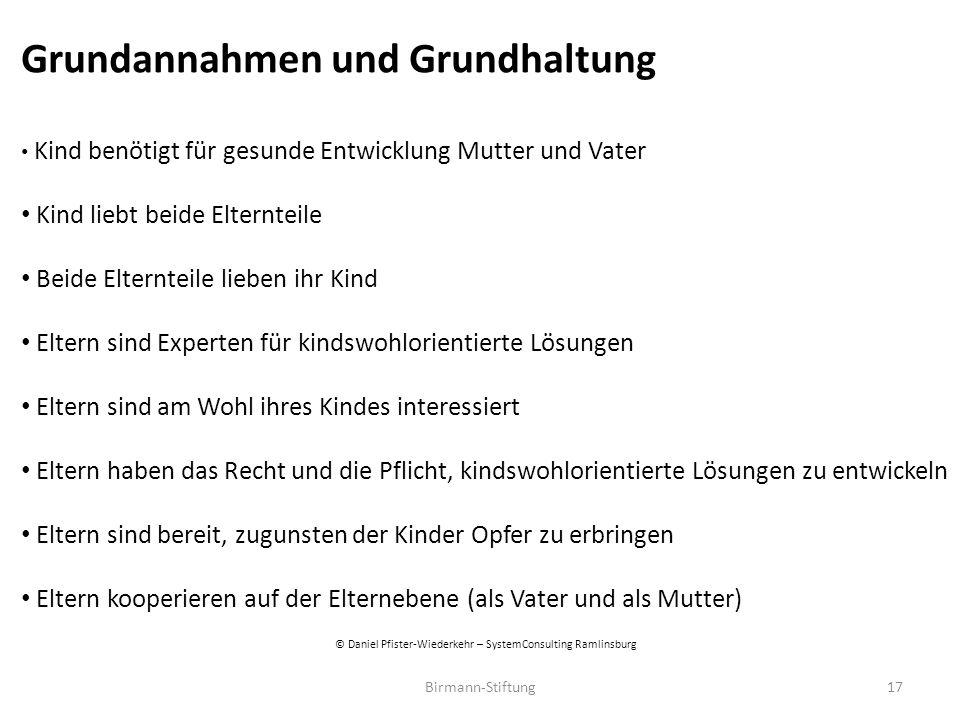 © Daniel Pfister-Wiederkehr – SystemConsulting Ramlinsburg