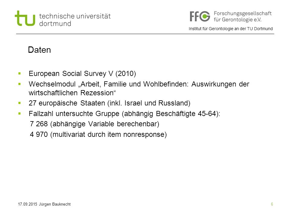Daten European Social Survey V (2010)