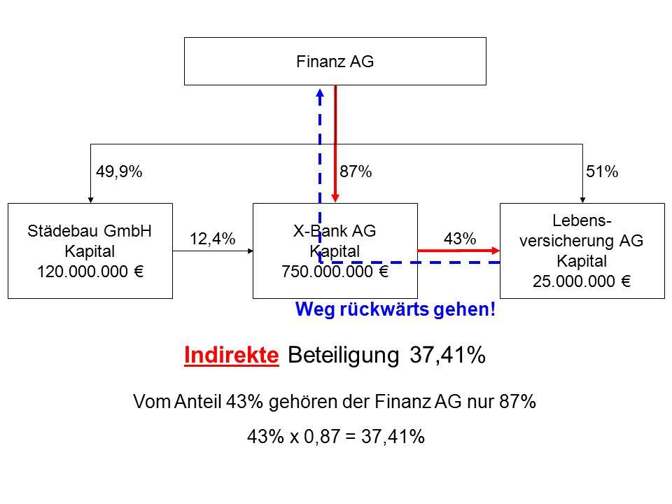 Indirekte Beteiligung 37,41%