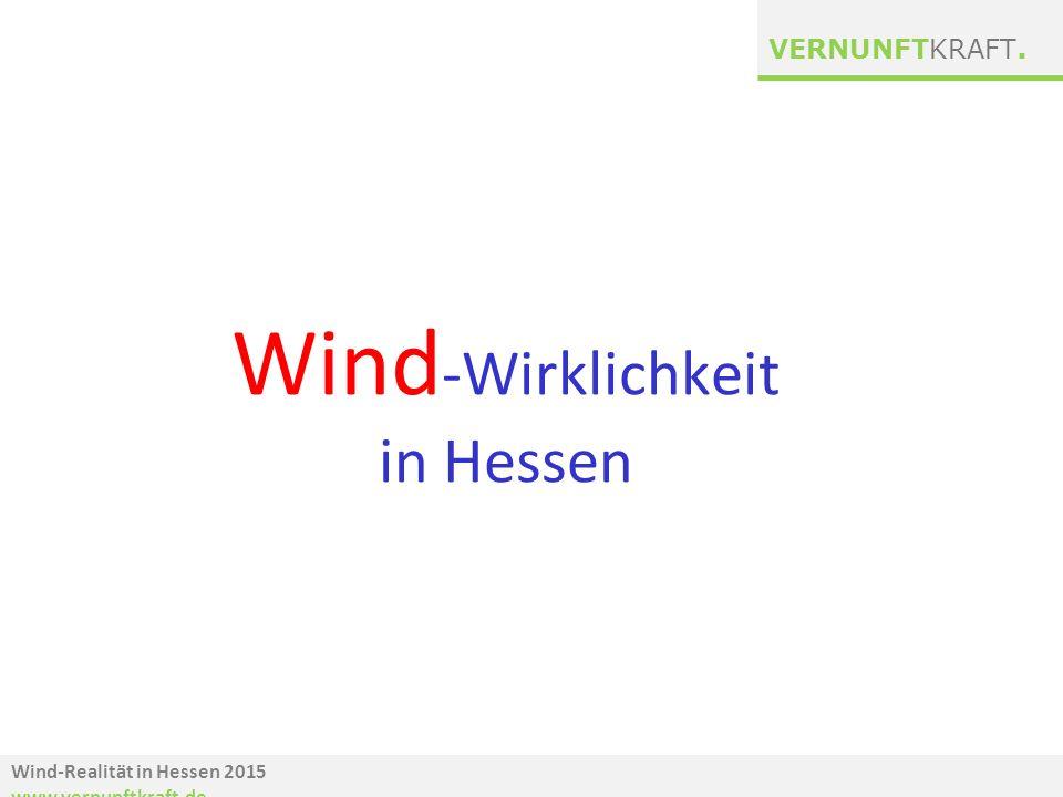 Wind-Wirklichkeit in Hessen