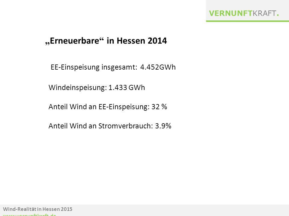 EE-Einspeisung insgesamt: 4.452GWh