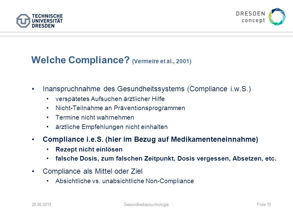 Welche Compliance (Vermeire et al., 2001)