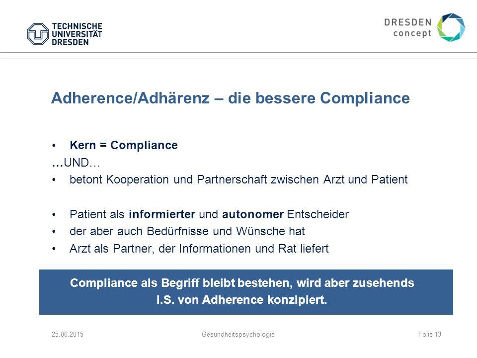 Adherence/Adhärenz – die bessere Compliance