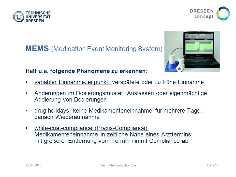 MEMS (Medication Event Monitoring System)