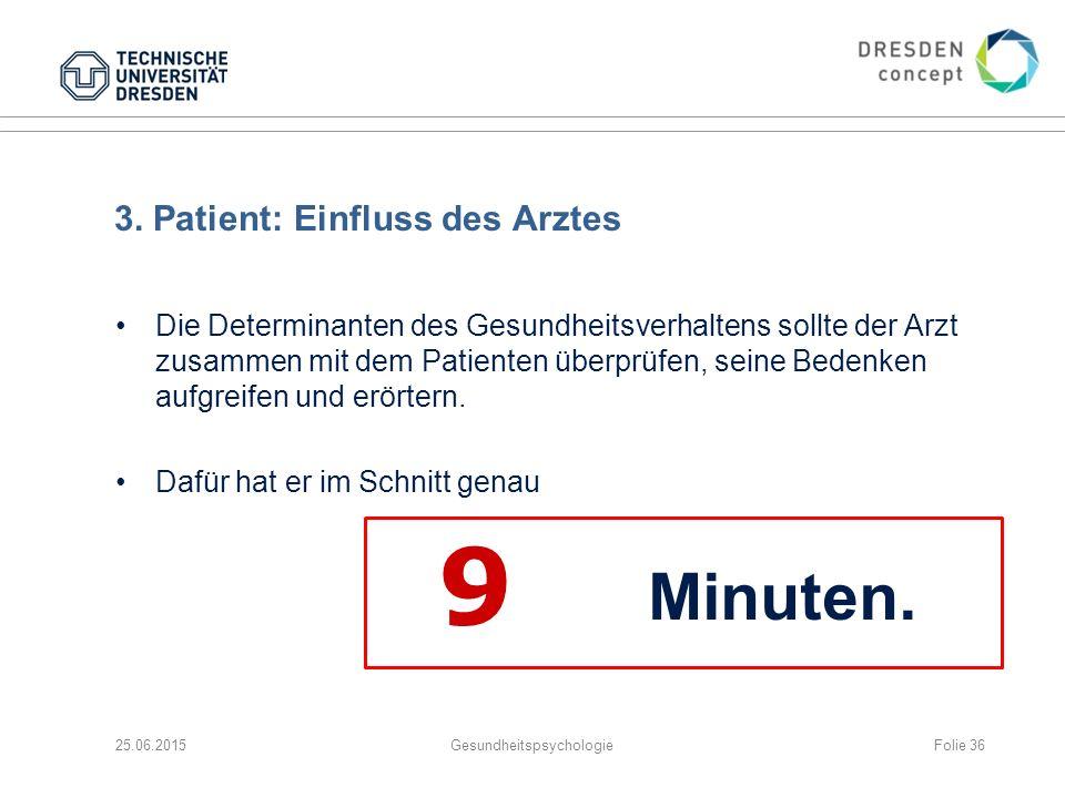 3. Patient: Einfluss des Arztes