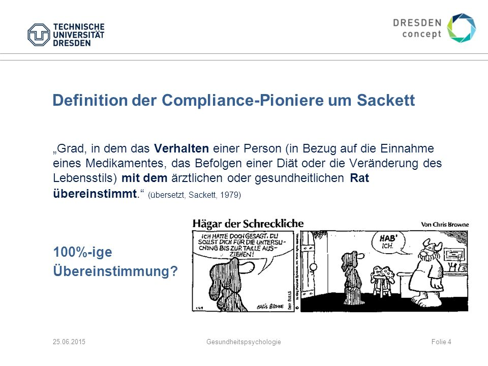 Definition der Compliance-Pioniere um Sackett