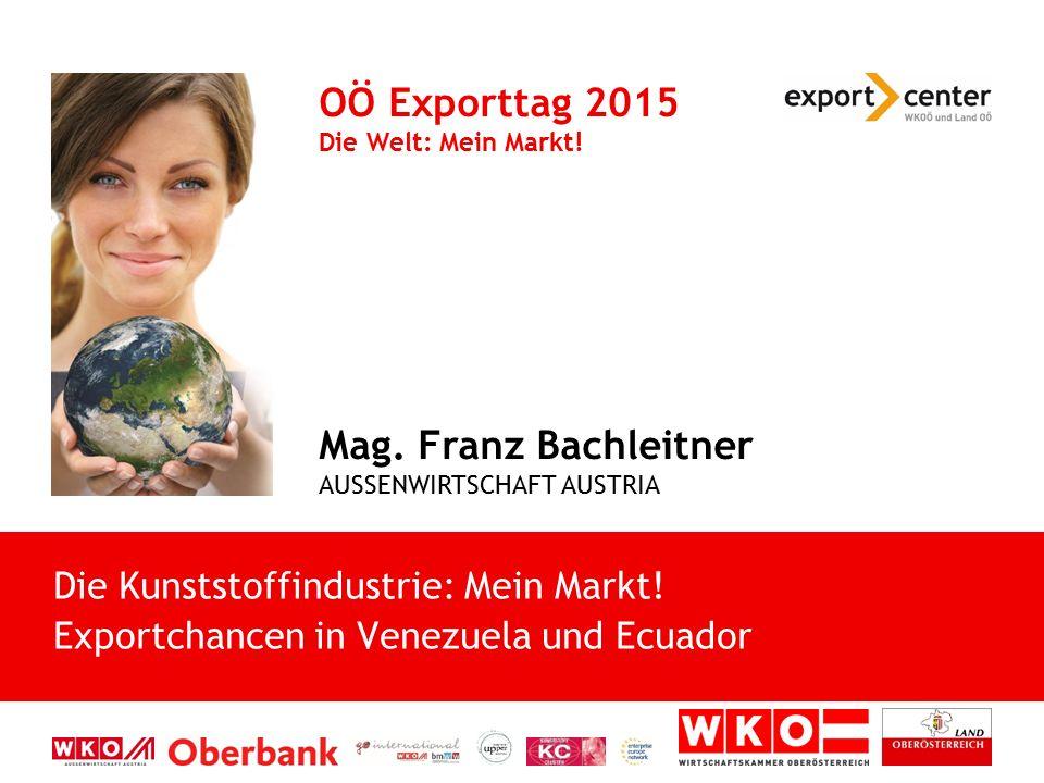 OÖ Exporttag 2015 Die Welt: Mein Markt!