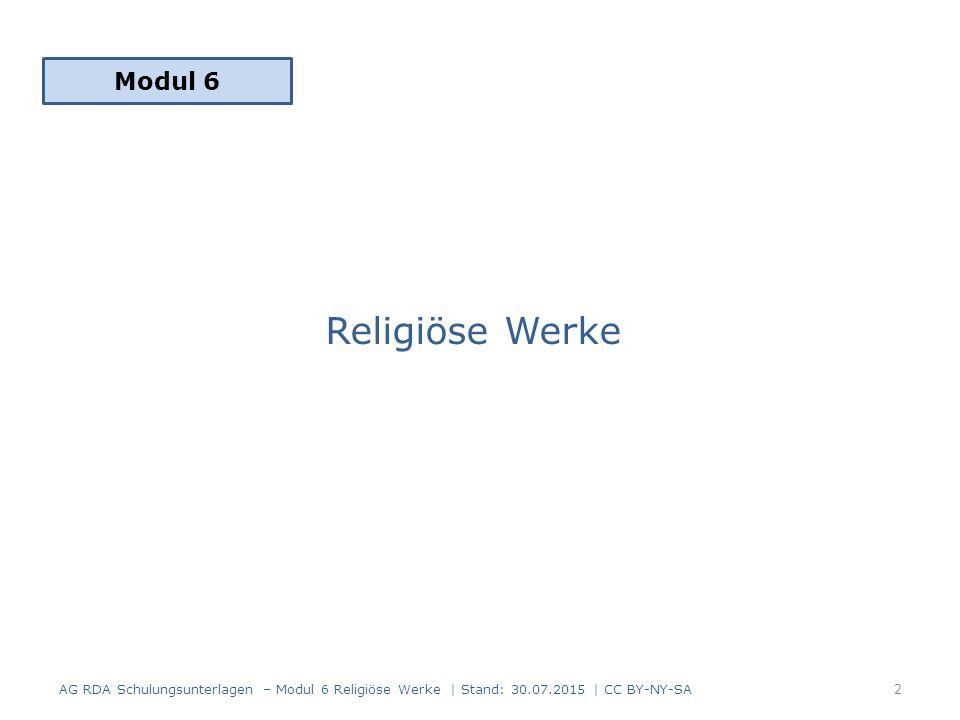 Modul 6 Religiöse Werke.