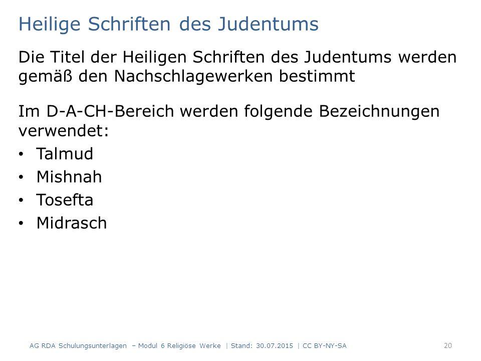 Heilige Schriften des Judentums