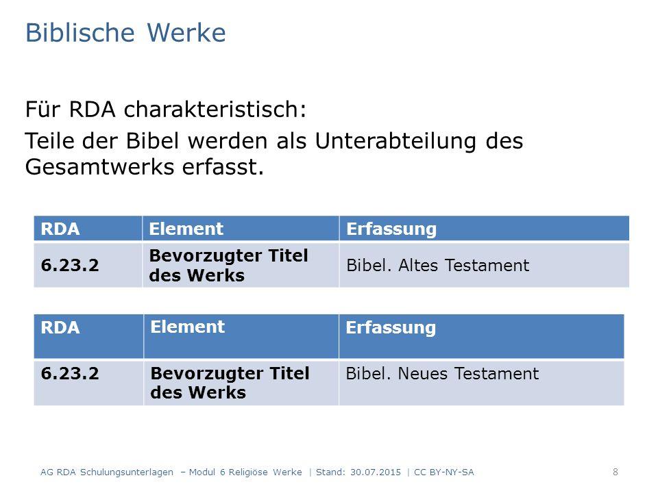 Biblische Werke Für RDA charakteristisch: