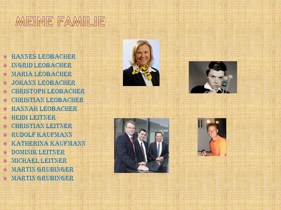 Meine Familie Hannes Leobacher Ingrid Leobacher Maria Leobacher
