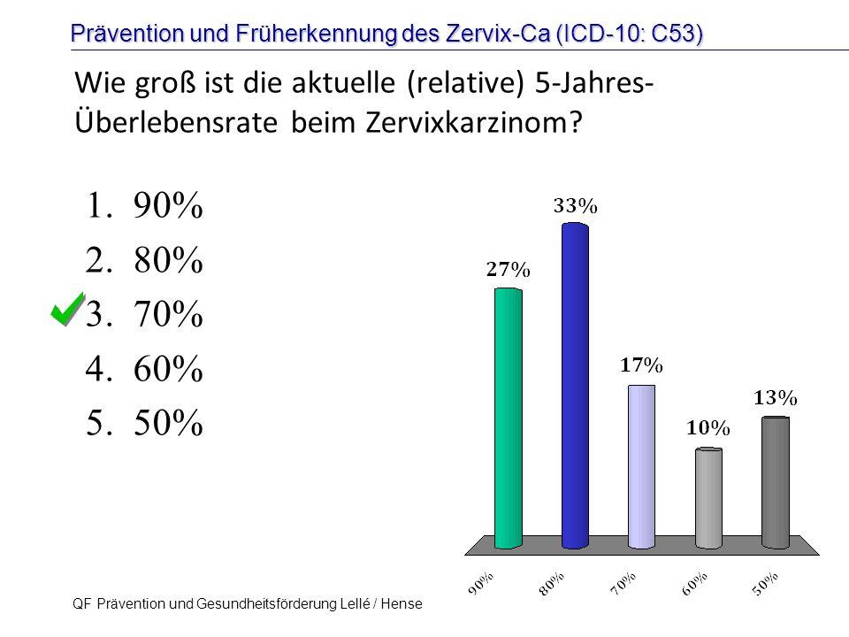 Wie groß ist die aktuelle (relative) 5-Jahres-Überlebensrate beim Zervixkarzinom