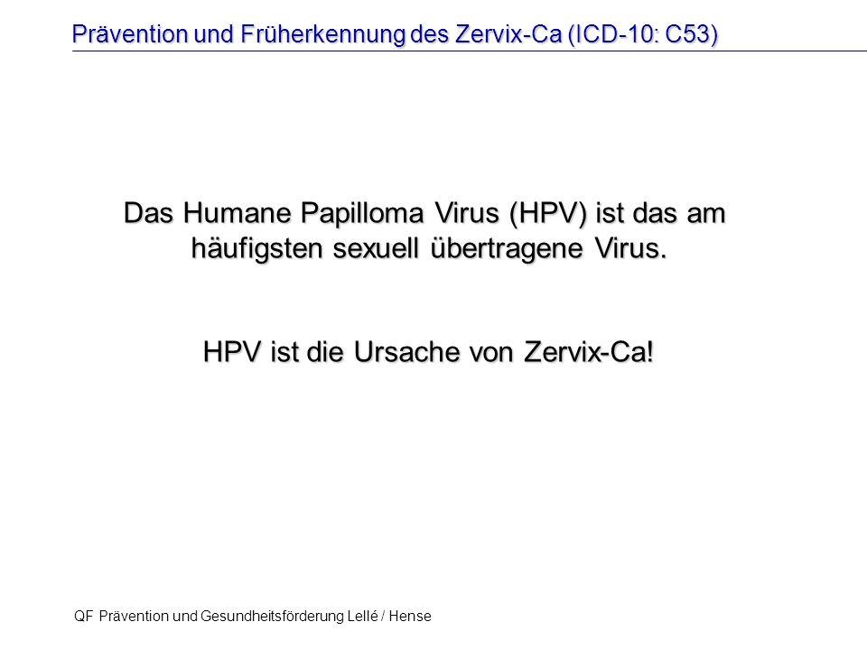 HPV ist die Ursache von Zervix-Ca!