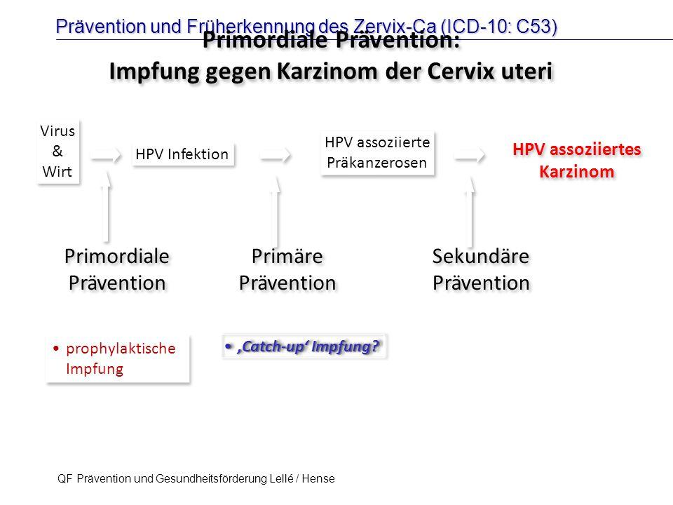 Primordiale Prävention: Impfung gegen Karzinom der Cervix uteri