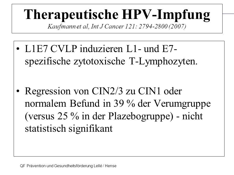 Therapeutische HPV-Impfung Kaufmann et al, Int J Cancer 121: 2794-2800 (2007)